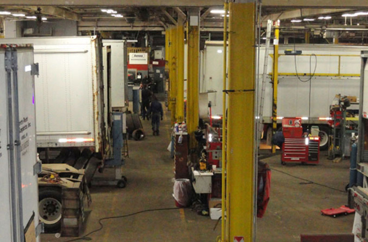 Trailer maintenance, repairs, sand blasting, painting and decal removal.